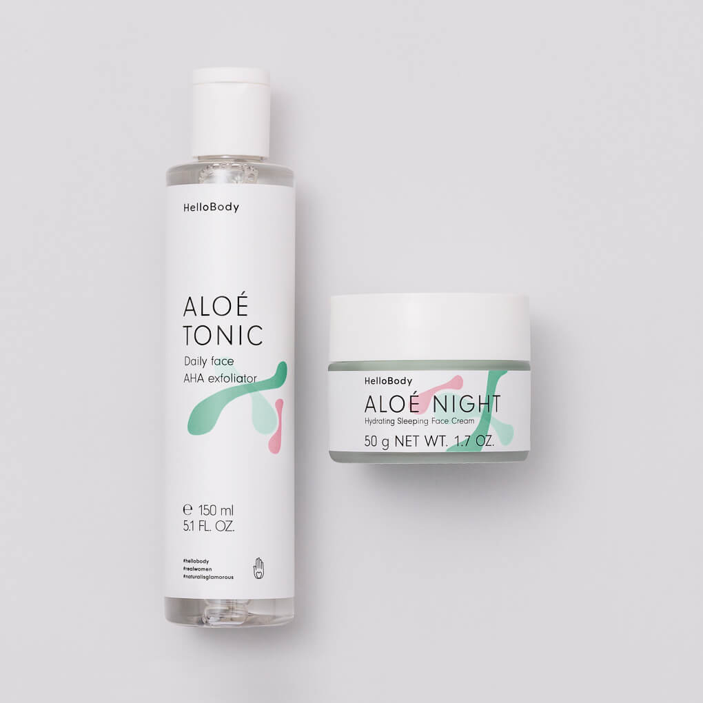 Hello Body ALOÉ-Evening-Duo Aloe Night Tonic
