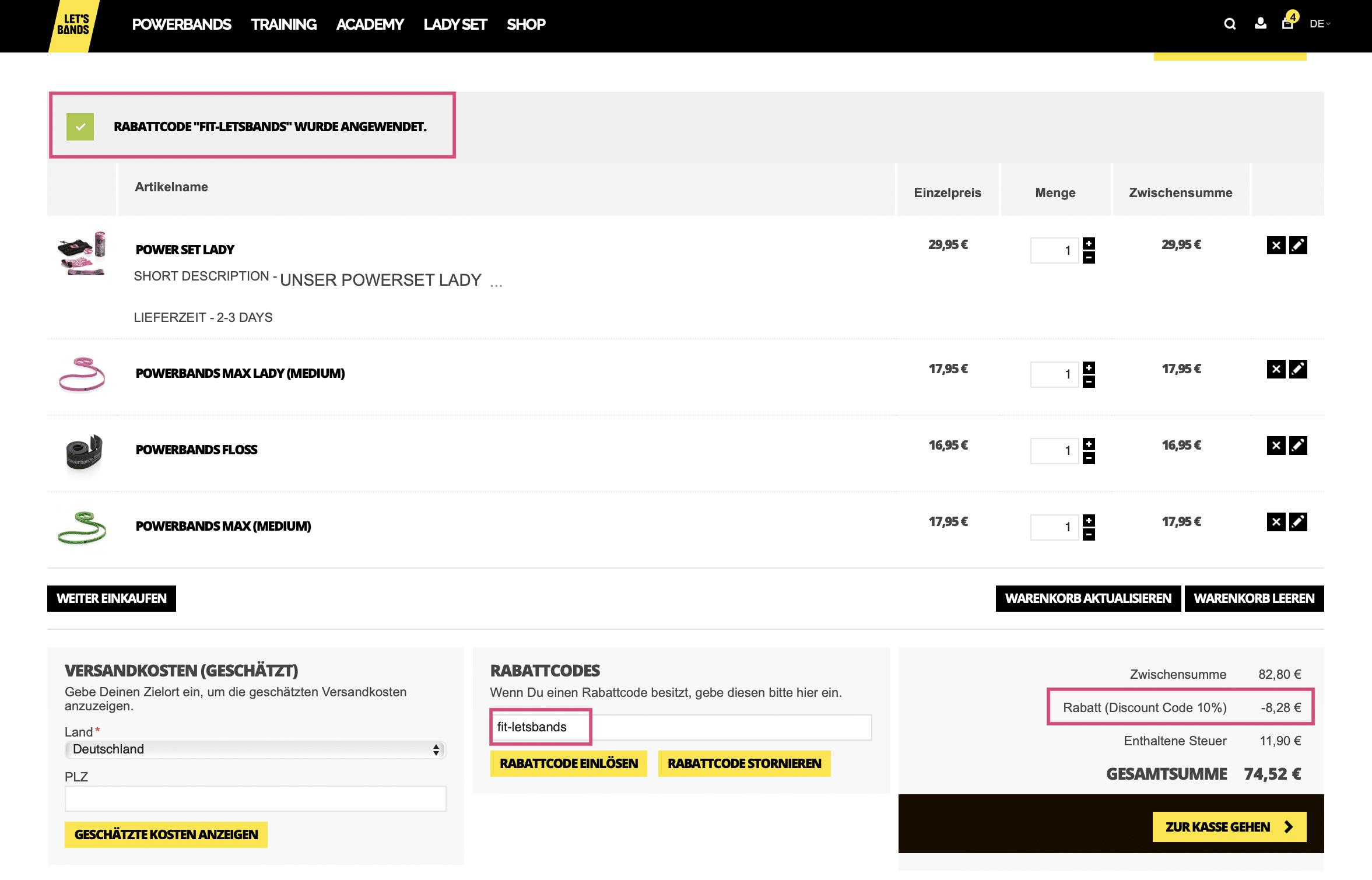 """#LETSBANDS #Powerbands #Flossing CODE #RABATT GUTSCHEIN RABATTCODE EINLÖSEN Promocode 2019: Let's Bands: Gutschein Code 2018 Letsbands 10 % Rabatt // Therabänder/ Resistence Bänder/ Flossing Bänder Let's Bands- 10 % Rabatt Code """"fit-letsbands"""" (Werbung) Dein Home Gym, Powerbänder, Flossing Bänder, Zum Erfahrungsbericht & Anleitung Flossing. Knieschmerzen verbessern, Powerband Training, die besten Powerbänder, Powerband Workout, zu Hause mit Powerbändern trainieren, Home Workout mit Powerbands"""