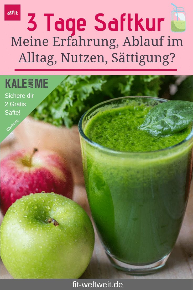 #Saftkur 3 Tage #Erfahrung 2020 vorher nachher, Saftkur selber machen oder #kaufen? 3 Safttage mit der Saftkur von Kale & Me (Werbung)Wie lief die Saftkur? Mein gesamter Alltag der 3 Tage mit Terminen und Events. Wird man von der Saftkur satt? Kann man mit der Saftkur abnehmen? Was ist drin? Saftkur Rezepte. Was kann man während einer Saftkur essen? Wie fühlt man sich bei der Saftkur? Saftkur vorbereiten (Entlastungstage, Entschlackung und danach) + 2 gratis Säfte bei Kale & Me …siehe Blog!