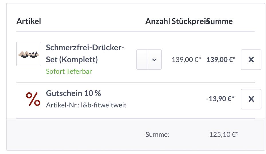 Schmerzfrei Drücker Set Liebscher Bracht