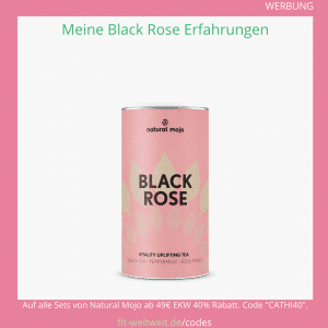 black rose tea natural mojo Tee Rabatt Code