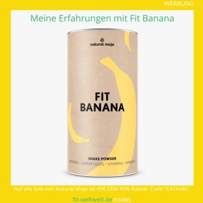 fit banana natural Mojo Zubereitung