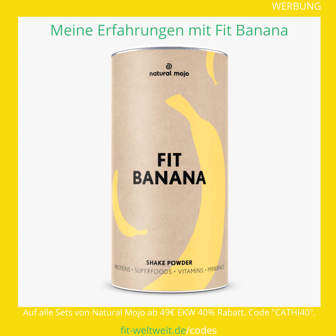 fit banana natural Mojo Zubereitung