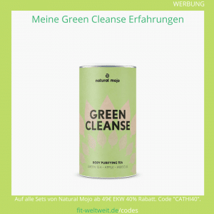 green cleanse tea drink natural mojo tee