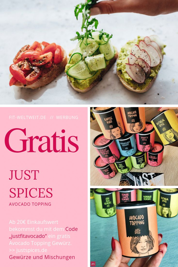 Just Spices Promo Code 2019 Gratis Gewürz Avocado Topping