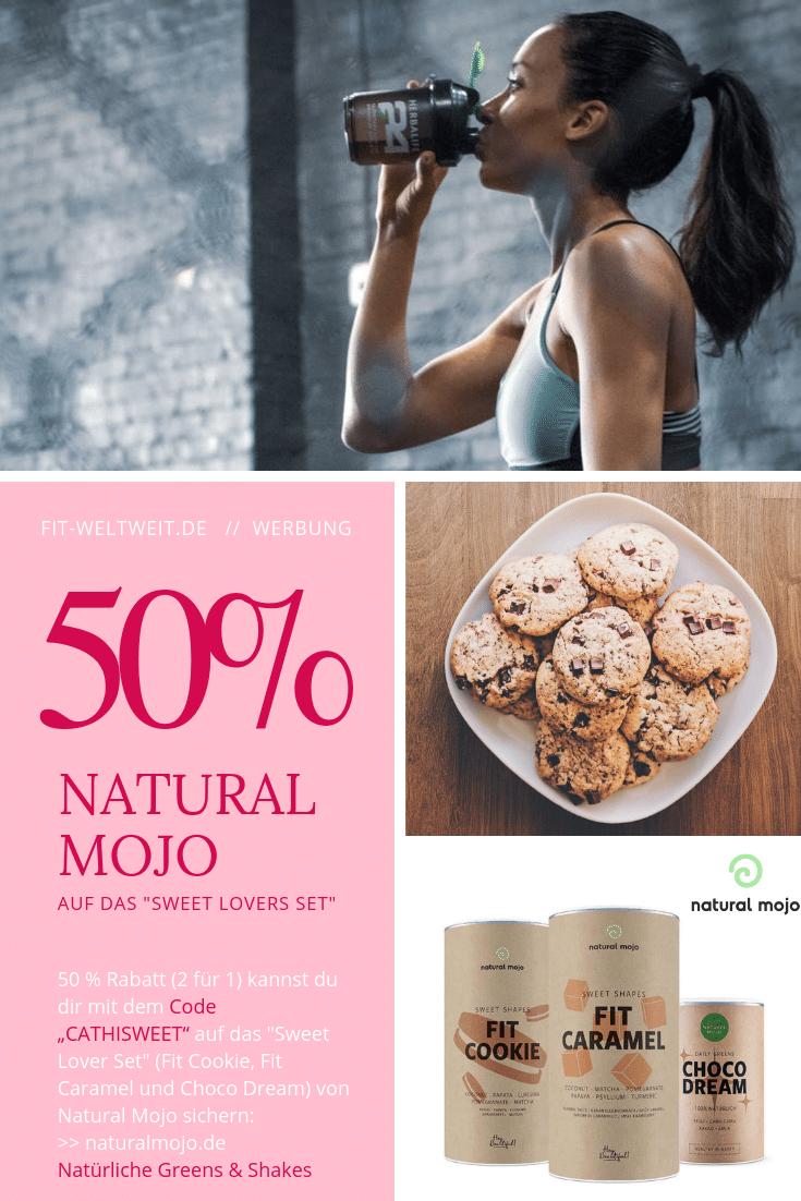 """Sweet Lovers Set: Natural Mojo Code und Rabatt Gutscheine 2019 (Werbung):20 % Rabattauf den gesamten Natural Mojo Shop mit dem Gutscheincode """"FITWELTWEIT20"""",30 % Rabattauf alle Sets beiNatural Mojo mit dem Gutscheincode """"CATHISETS"""",50 % Rabatt (2 für 1)auf dieSkin Routine Set mit""""CATHIROUTINE"""" &50 % Rabatt (2 für 1)auf dasSweet Lover Set mit""""CATHISWEET"""".Alle Infos zu den Natural Mojo Rabattcodes erhältst zu hier."""