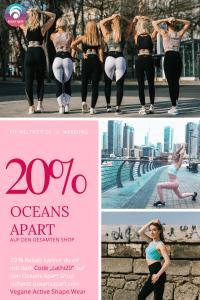 """Vegan Fitness Wear. Extreme bequem, schneidet nicht ein und formt eine tolle Figur. 30% Rabatt bei Oceans Apart (Werbung) auf alle Sets mit dem Code """"cathiset""""."""