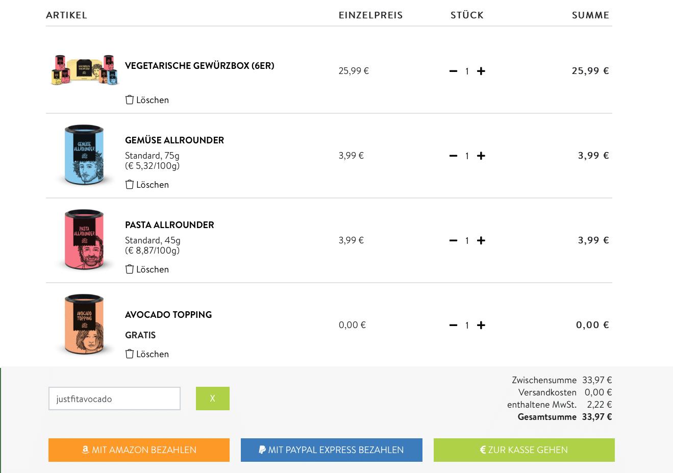 """#GEWÜRZE #KOCHEN #ANFÄNGER Just Spices Gewürze(Werbung) total verliebt und hatte damals ein Probierpaket mit 4 Gewürzen geschenkt bekommen. In diesem Blogpost gebe ich dir einen kurzen Einblick und du bekommen einen Rabattcode (""""justfitavocado""""), womit du dir ein leckeres Gratis Gewürz (""""Avocado Topping"""") sichern kannst. Ab einem Bestellwert von 20€ (Ich empfehle dir ein Probierset zu nehmen)"""