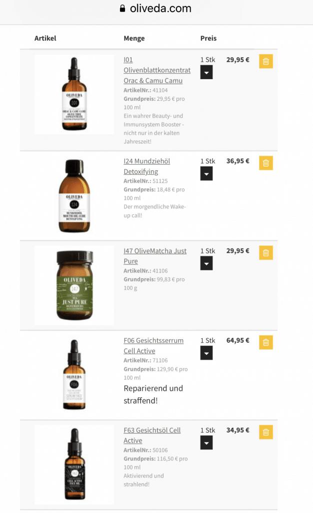 """OLIVEDA Naturkosmetik Juni 2019: bis zu 50% Rabatt ohne Anmeldung // #BEAUTY für innen und außen. #Ölziehen für eine gesunde Mundhygiene und reine #Haut im #Gesicht (ohne #Pickel). Immunbooster Drinks für dein Immunsystem. (Seren, Öle, Gesicht , Mund, Olivenöl, …) #OLIVEDA #ERFAHRUNGEN und #REVIEW 15 % Rabatt kannst du dir mit dem Code """"FITWELTWEITCATHI15"""" (groß geschrieben) sichern auf alle Produkte von OLIVEDA ohne Mindestbestellwert + 30% Set Rabatt. Bis zu 40% Rabatt regulär. (Werbung)"""