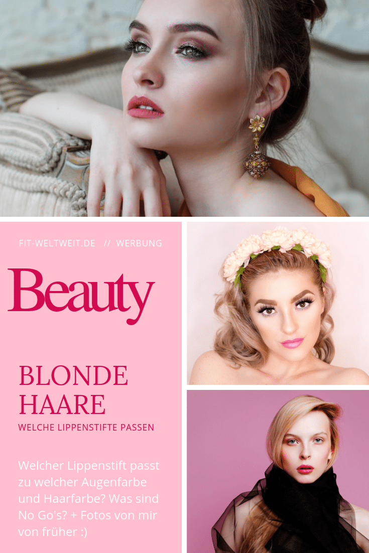 Blonde haare braune augen lippenstift
