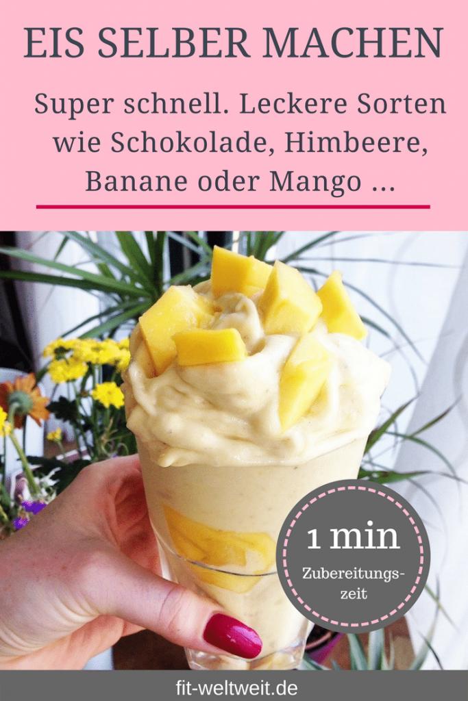 Mangoneis #vegan #Eis #selbermachen #Rezepte #zuckerfrei #Rezepte #lowcarb Eis selber machen ohne Eismaschine. Eis selber machen ohne Zucker oder Eis selber machen mit wenigen #Zutaten in 3 Minuten? Schokoladeneis, Bananeneis, Himbeereis. Einfache Rezepte #Grundrezepte, um Eis selber zu machen. Leckeres und gesundes #Eis minutenschnell und für jede #Diät geeignet. So kannst du gesund #naschen. #Eismaschine #DIY #sorbet #Sommerfest #Sommer #Grillparty #Grillabend #Dessert #Nachtisch #Thermomix