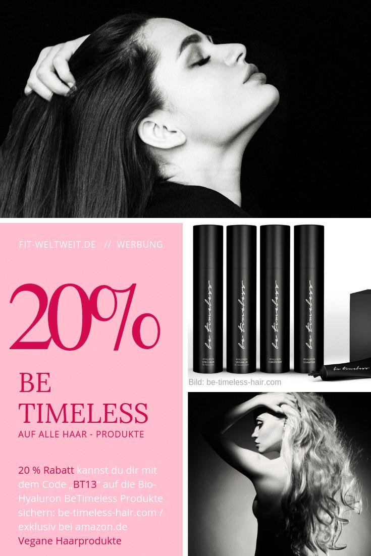 """Feine #Haare wachsen lassen & lange Haare bekommen? Glänzende Haare Trick? Stumpfe Haare oder spröde Haare in glatte & gesunde Haare verwandeln? Mit #Hyaluronsäure #Shampoo + einer Kur extra für anspruchsvolle Haare kann das gehen. Der neue #Bestseller von BeTimeless Hair enthält Bio Hyaluronsäure für starke und gesunde Haare, ist 100% vegan, frei von Mikroplastik. 20% #Rabatt auf den Shop (via Amazon) bekommst du mit dem #Gutscheincode """"BT13"""" auf deine Bestellung. (Werbung) Erfahrung siehe Blog"""