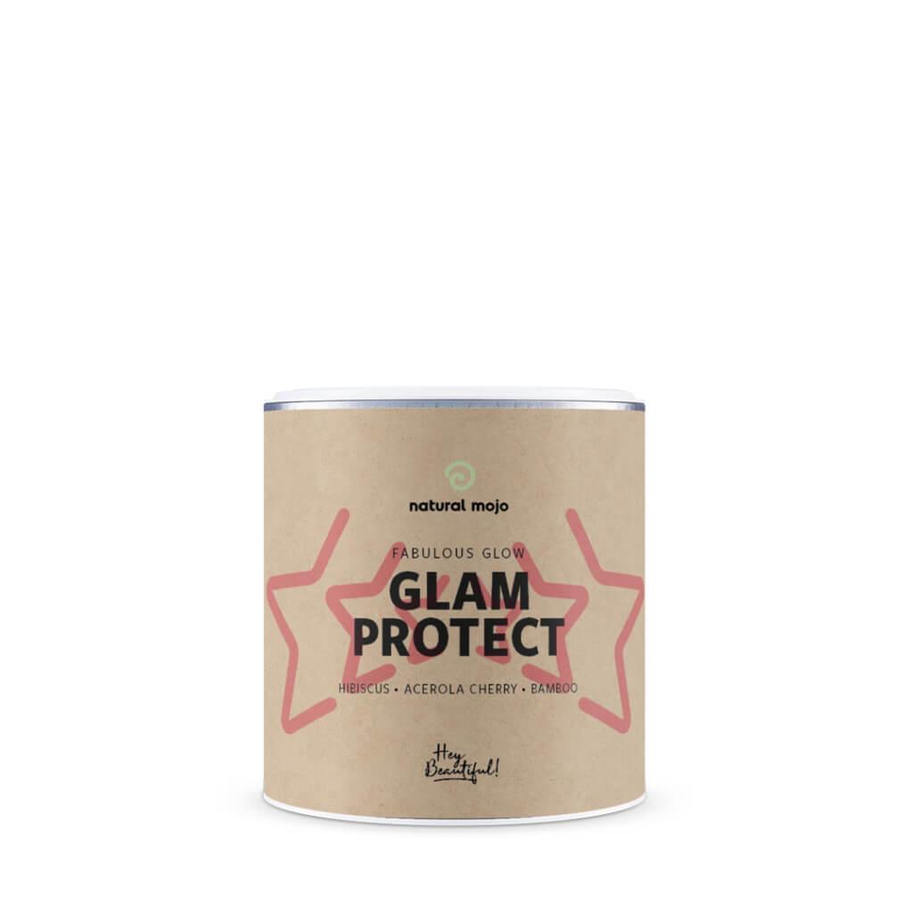 """#Haut #Nutricosmetics #Superfoods #Pickel #Bambus #Hibiskus #Acerola Natural Mojo Erfahrungen GLAM PROTECT trockene Haut und unreine Haut. Inhaltsstoffe wie Hibiskus, Acerola Kirsche und Bambus können beim Schutz deiner Haut ihre starke Wirkung entfalten und sogar Zeichen der ersten Hautalterung reduzieren (#AntiAging). Das Glam Protect zählt zu den in den USA total angesagten Nutricosmetics, deressbare Kosmetik/#Schönheit. #Beautyhack 30% Rabatt auf Natural Mojo Sets """"cathisets"""" (Werbung)"""