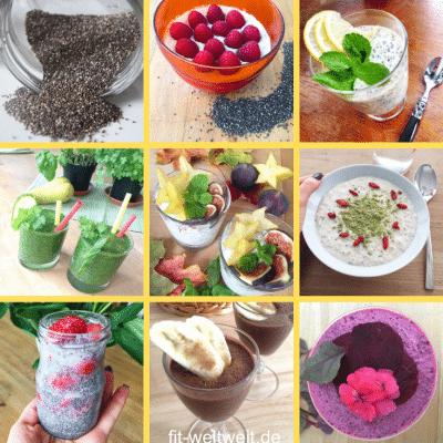 CHIASAMEN und CHIAPUDDING REZEPTE #chiasamen #chiarezepte #chia #rezepte #vegan #proteine Sie werden immer bekannter und es gibt sie im Supermarkt zu kaufen und jedem gut sortieren Bio-Laden. Kannst du ABNEHMEN MIT CHIA SAMEN? Abnehmen durch gesunde Fette? Chia Rezepte mit Chiasamen, Chiawasser mit Zitrone, die gesunde Wirkung von Chia Samen, Chia Rezepte zum Frühstück oder fürs Büro. Wo kannst du Chia Samen kaufen? Besser Bio Chiasamen wählen? Alles Wissenswerte über Chia Samen siehe Blog…