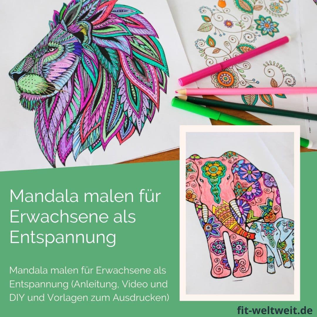 Mandala malen für Erwachsene als Entspannung - Stress abbauen