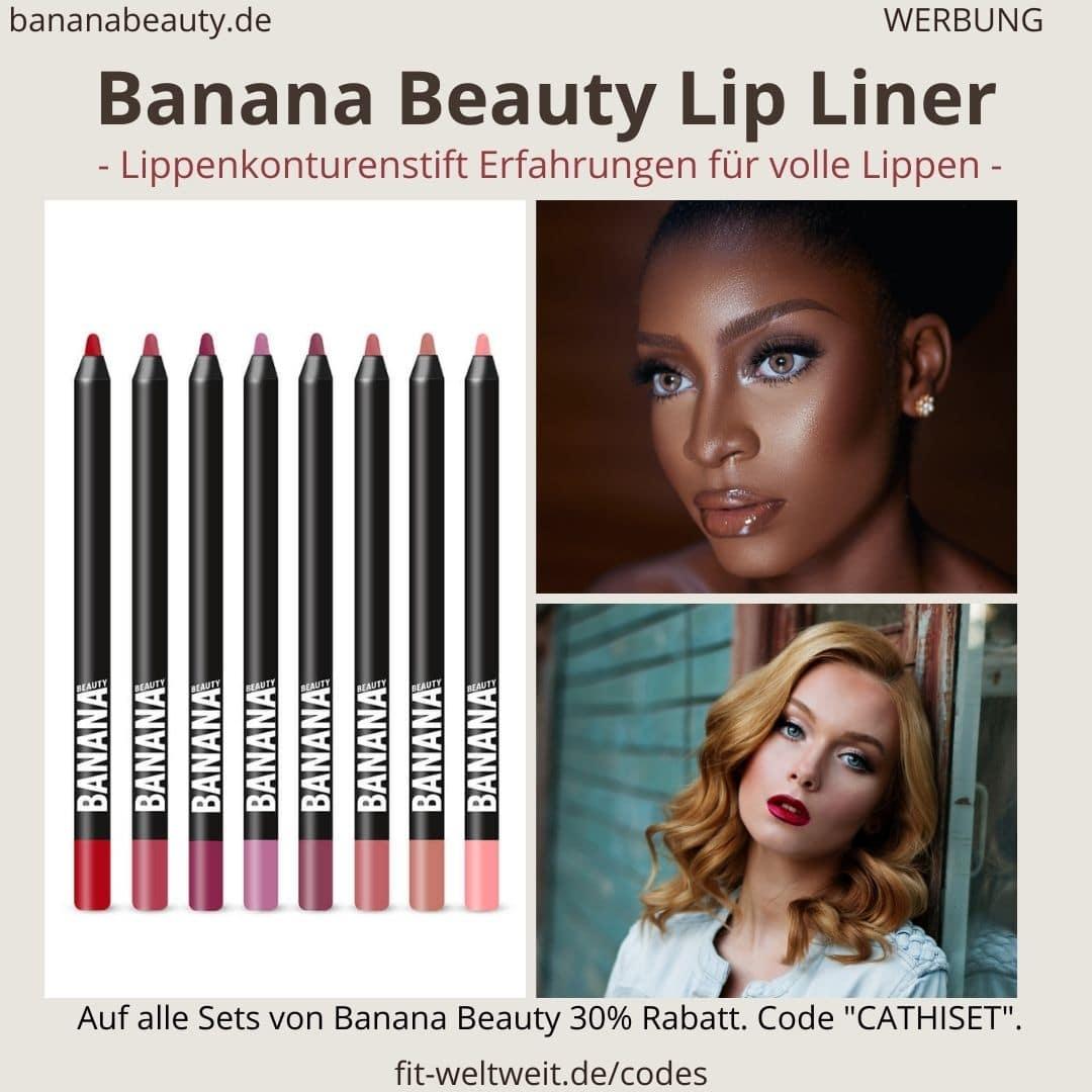 Bananan Beauty Lip Liner Erfahrungen alle Farben Übersicht