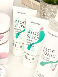Aloé Sleep als eine meiner absoluten Lieblingsmasken für das Gesicht.