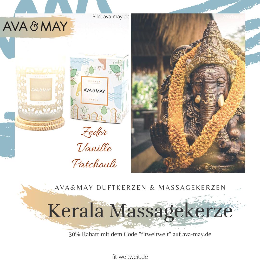 Massagekerze Kerala Kerze Ava May Duftkerze