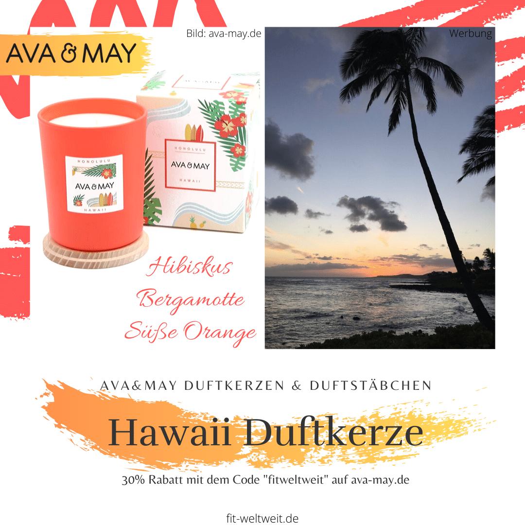 Ava&May Hawaii Duftkerze Erfahrungen Honolulu
