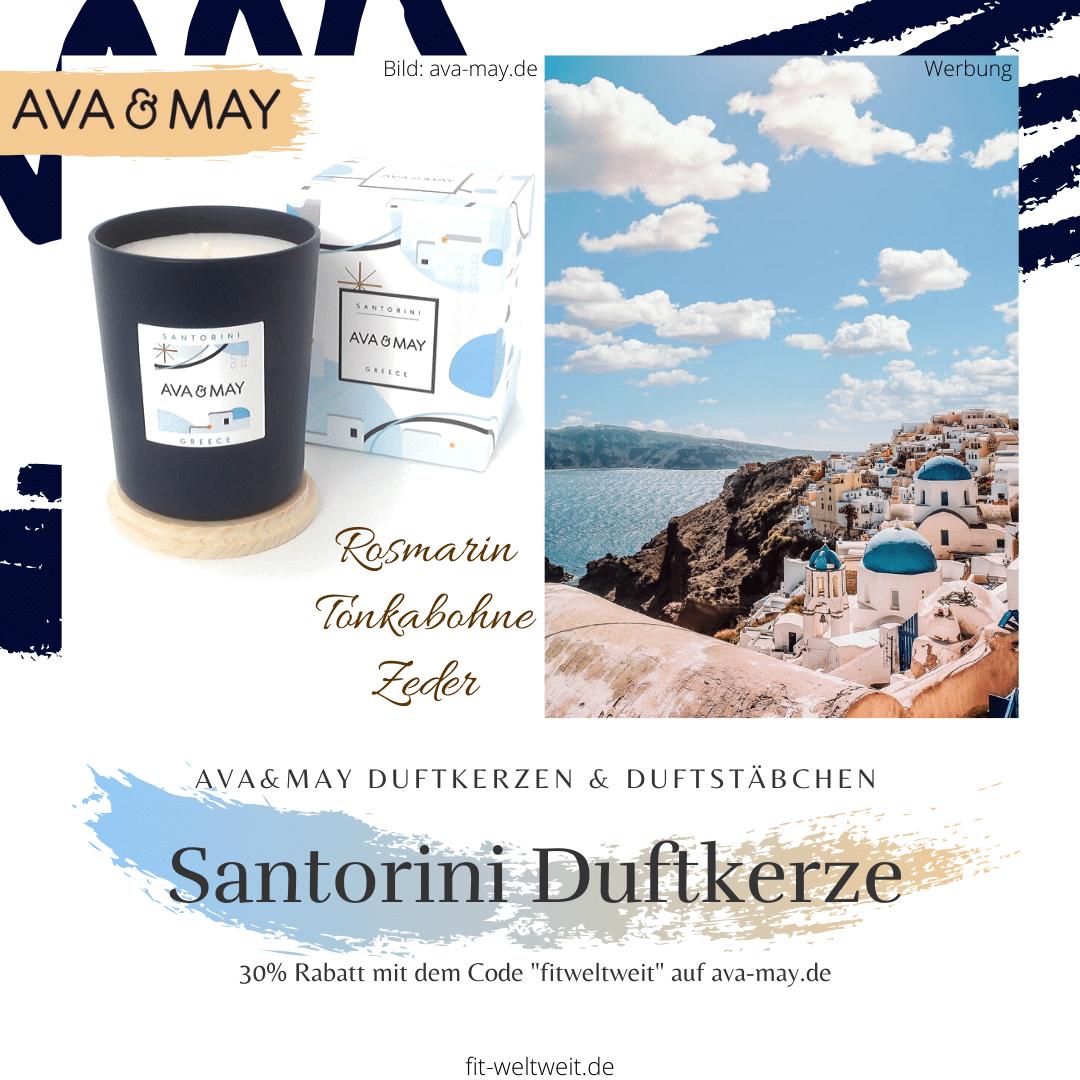 Ava&May Santorini Duftkerze Erfahrung Greece