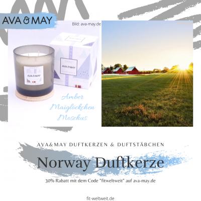 """Norwegen Duftkerze, #Norwegen – Moschus, Maiglöckchen, Amber / Draußen ein arktischer Himmel, klar und blau, wolkenlos und in der Ferne lassen sich Berge erahnen und die Fjorde // Eigenschaften: 100% Soja-Wachs, 70 Stunden Brenndauer, Echtholzdeckel - auch perfekt als Untersetzer geeignet #Duftkerzen #Wohnzimmer #cozy #einrichtung #badezimmer #wohnung #wohnen #design #deko #dekoration #reisen / Ava & May Shop mit dem Code """"fitweltweit"""" 30% Rabatt (Werbung)"""