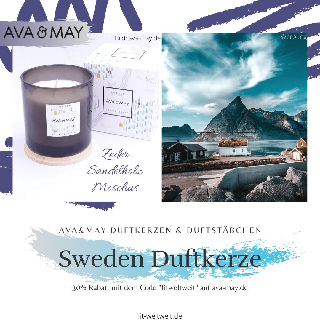 Kerze Ava May Sweden große Duftkerze