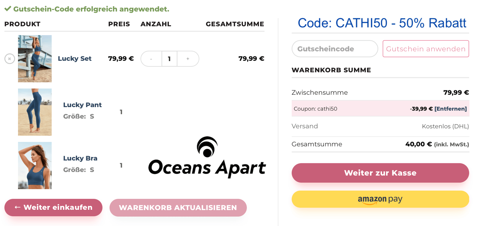 Oceans Apart Rabatt Code 50 Coupon Gutschein
