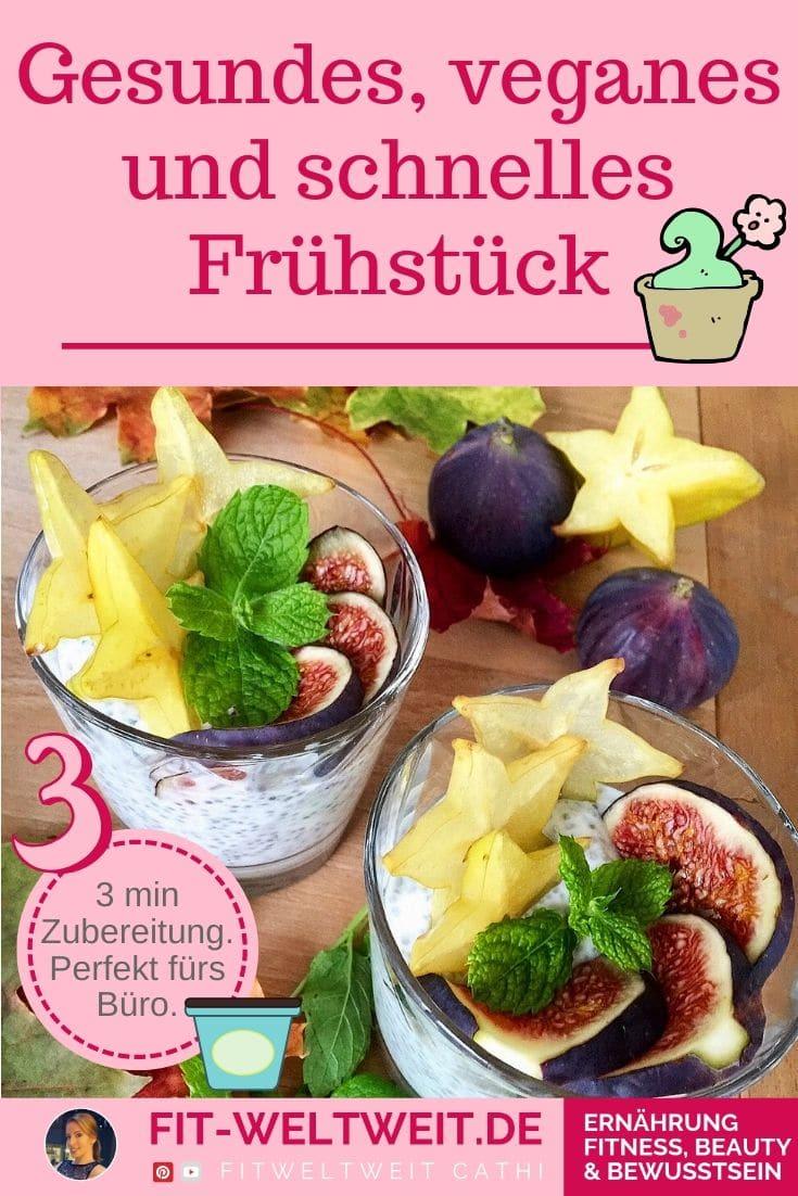 Rezept zum Frühstück: #Chia #Feigen #Kokos #Pudding (schnell & gesund) Chia Feigen Kokos Pudding (schnell & gesund) 150 ml Kokos Jogurt (Harvest oder Kokos Lupinen Jogurt) 50 ml Wasser 2-3 EL Chiasamen Deko: frische Feige Deko: Karambola, frische Minzblätter / 1 TL Agavendicksaft Erweiterbar durch Haferflocken und Leinsamen. Positive Auswirkungen der Zutaten: siehe Blog … denn so macht das #Essen noch mehr Spaß. #Frühstück #vegan #gesundheit #mealprep #büro #rezepte #rezept