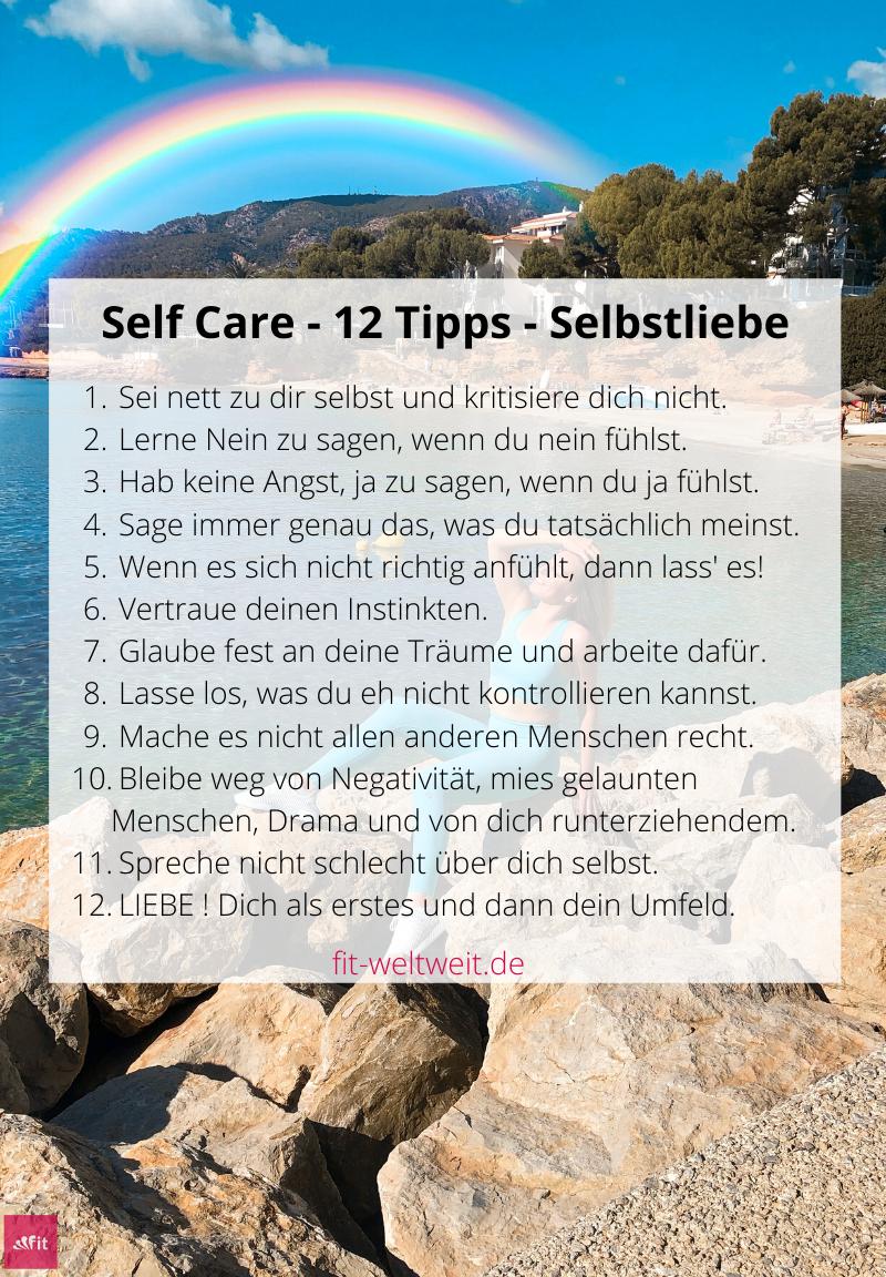 Self Care und Selbstliebe sind super wichtige Themen, was zwar viele von euch sicherlich schon wissen, aber dennoch muss ich fast täglich in meinem Umfeld und besonders durch eure Insta Messages feststellen, dass beides noch nicht angewandt wird. Deshalb gibt es für dich nun eine schnelle Übersicht mit 12 Anwendungs-Tipps für mehr Self Care.