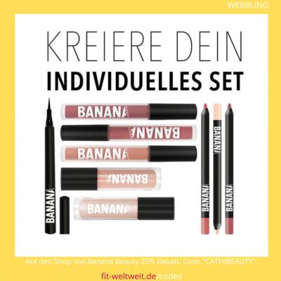 """#KOSMETIK #BANANABEAUTY #VEGAN #RABATTCODE #ERFAHRUNGEN #INSTAGRAM // BANANA BEAUTYERFAHRUNGEN (Werbung) Crueltyfree Kosmetik (tierversuchsfrei) Liquid Lipsticks und die Brushes sind vegan. Meine ganzenBANANA BEAUTY Erfahrungen mit den Kosmetik Produkten. Banana Beauty Lipstick Farben, Erfahrungsbericht (Was passt zu wem?), Lippenstifte, Lipliner Erfahrungen, Eyeshadow Paletten von Banana Beauty // 25% Rabatt bekommst du im gesamten Shop von Banana Beauty mit dem Rabatt Code """"CATHIBEAUTY"""""""
