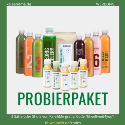Kale and Me Säfte Rabattcode 2020 Gutscheincode gratis Säfte