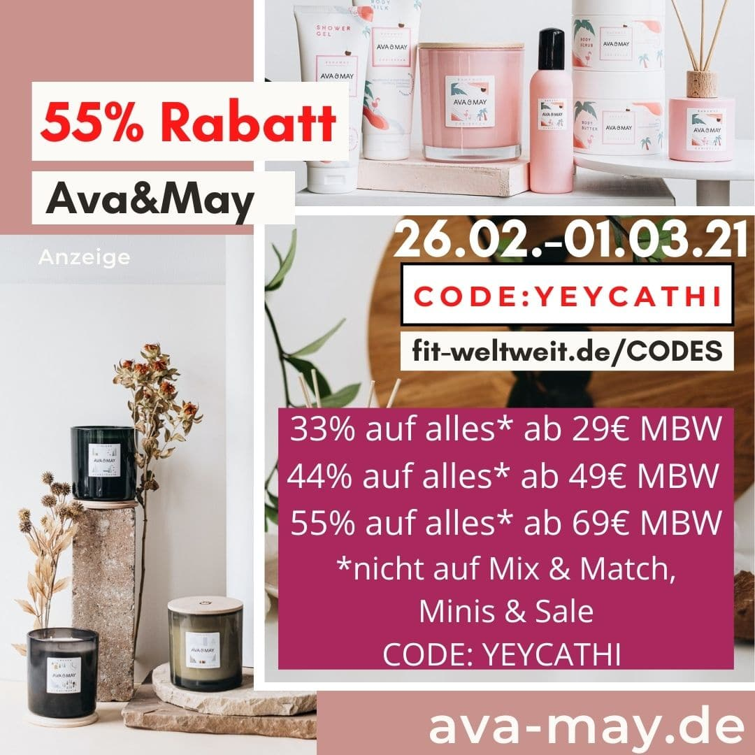 55% Rabatt bei AVA and MAY 2021