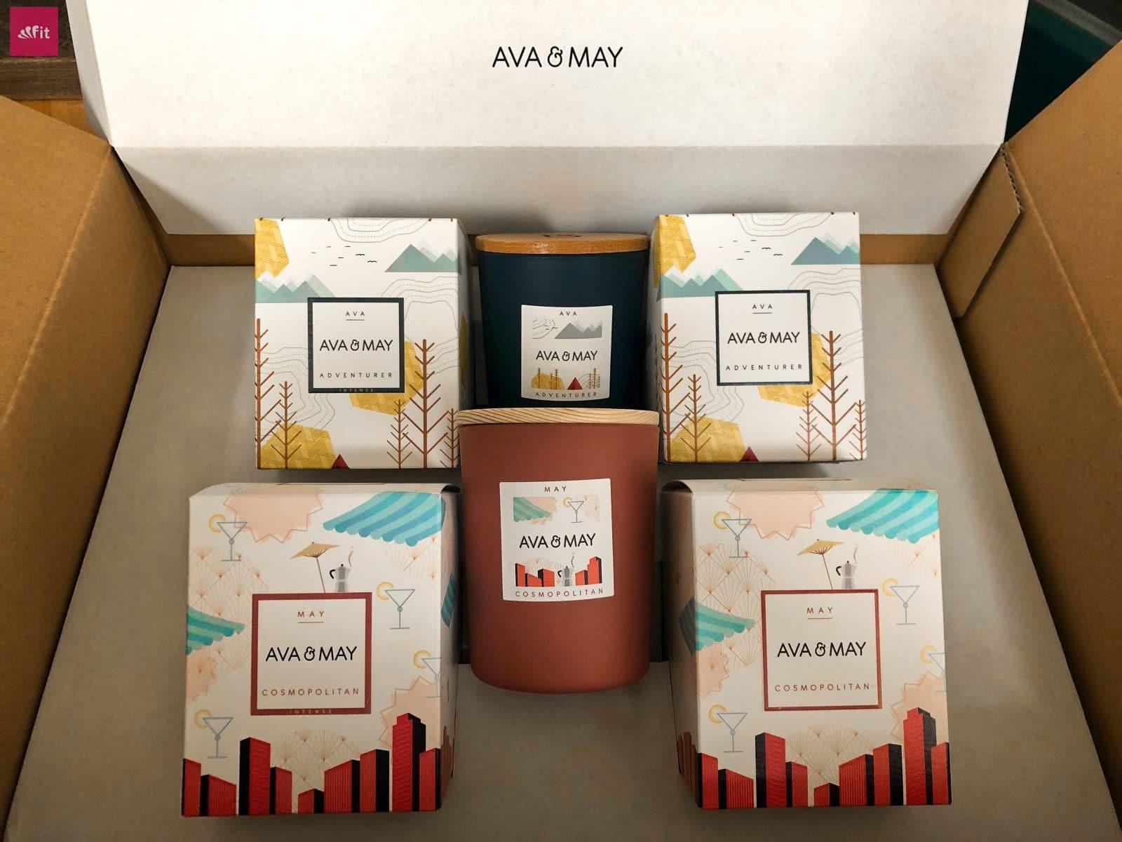 AVA MAY Adventures Cosmopolitan Verpackung nachhaltig Versand Kerzen