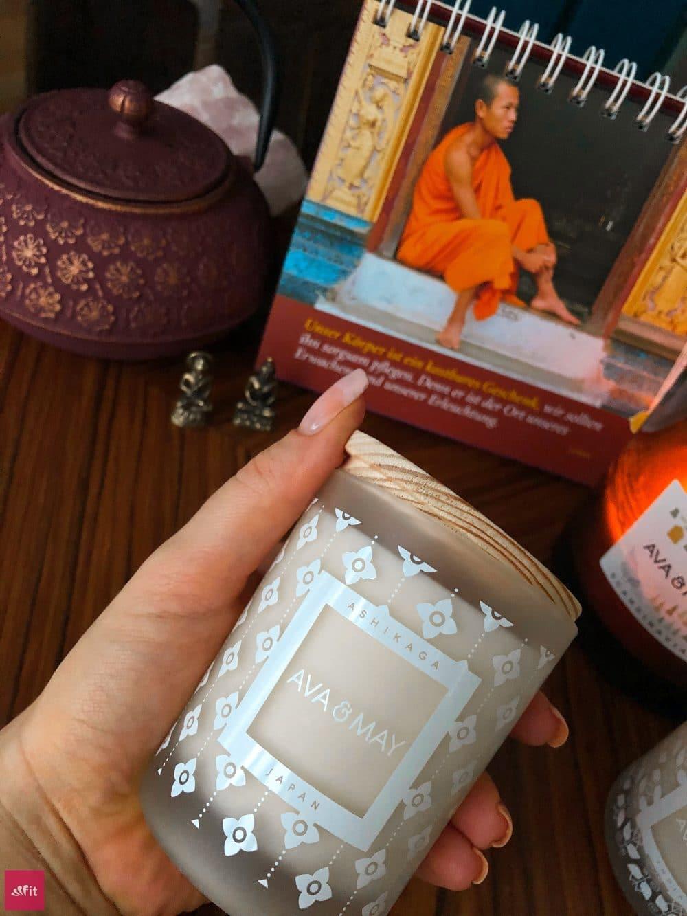 Ashikaga Massagekerze Japan Ava and May Duftkerze Erfahrungen Bewertung