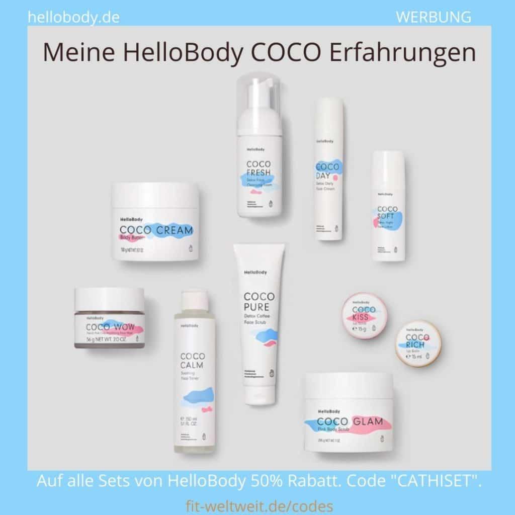 COCO Hello Body Erfahrungen Cream Wow Calm Pure Fresh Day Soft Kiss Rich Glam