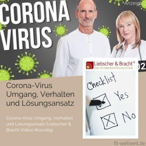 Corona-Virus Umgang, Verhalten und Lösungsansatz (Liebscher & Bracht Video) #covid19 #coronavirus (Werbung) Hey ihr Lieben, jetzt ist Aufklärung und Unterstützung wichtiger denn je und ich bin total dankbar, dass Liebscher & Bracht ein Video zum Corona-Virus und zur aktuellen Situation abgedreht haben und etlich Tipps geben, wie du dich jetz
