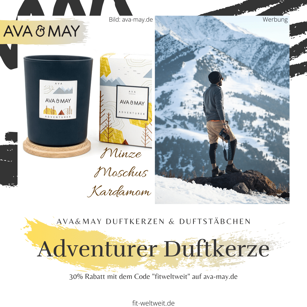 Duftkerze Adventurer Ava and May Kerze intense Holz Moschus