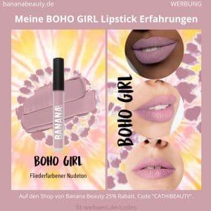 Liquid Lipsticks Banana Beauty BOHO GIRL ERFAHRUNGEN Boho Vibes Set