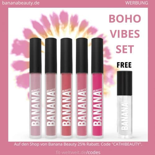 Liquid Lipsticks Banana Beauty BOHO VIBES SET Erfahrungen