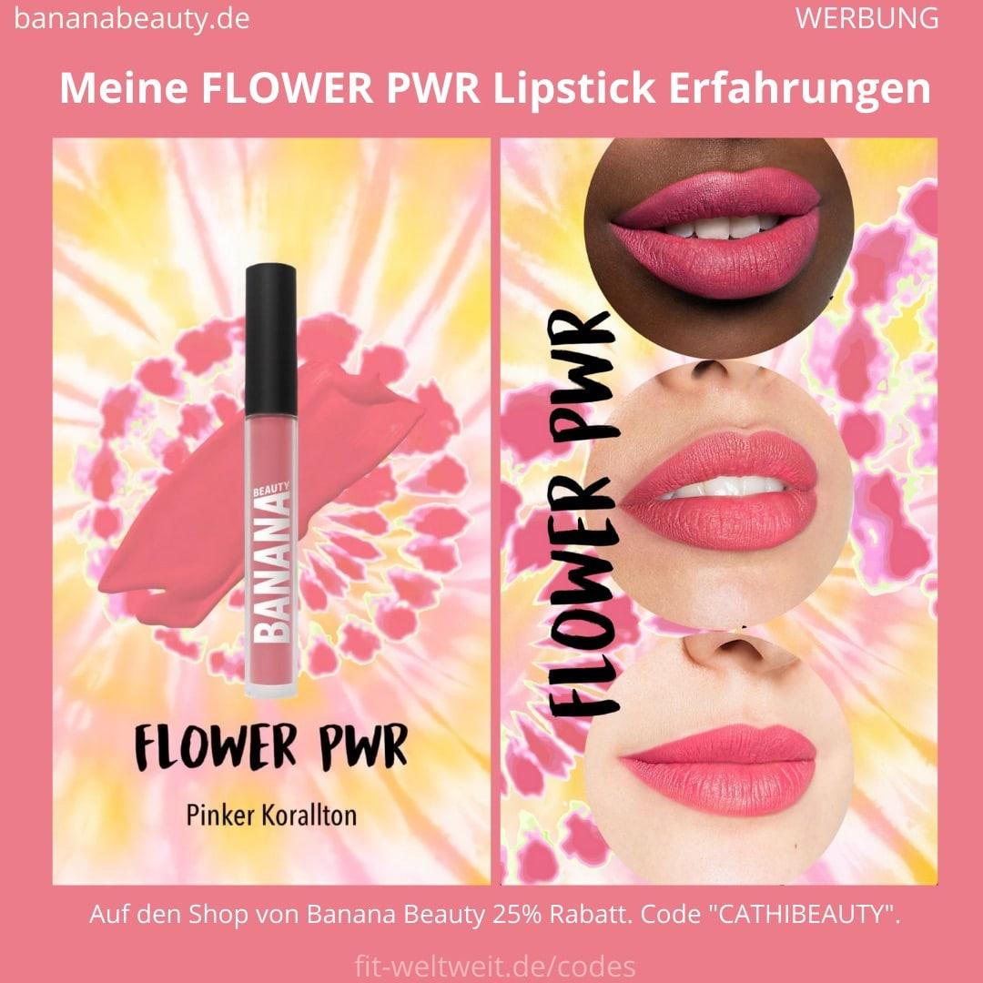 Liquid Lipsticks Banana Beauty FLOWER PWR ERFAHRUNG Boho Vibes Set