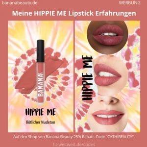 Liquid Lipsticks Banana Beauty HIPPIE ME ERFAHRUNG Boho Vibes Set