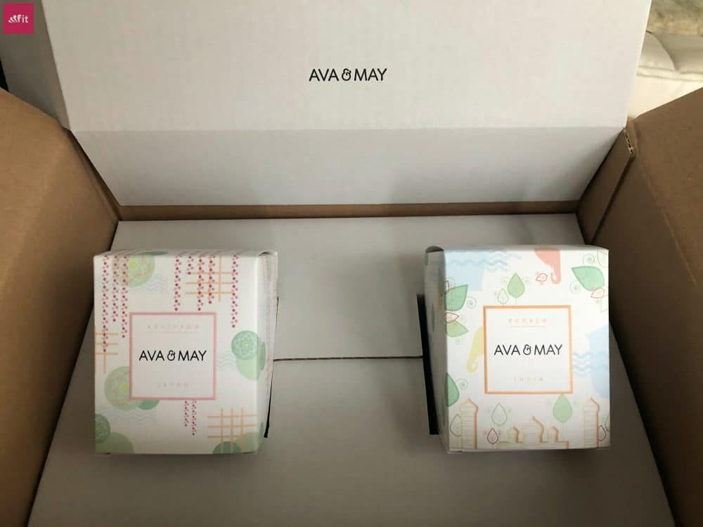 Massagekerzen Duftkerzen Ava and May Verpackung Versand