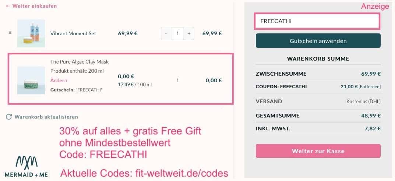 Mermaid Me 30% Set Gutschein + Free Gift Rabatt Code