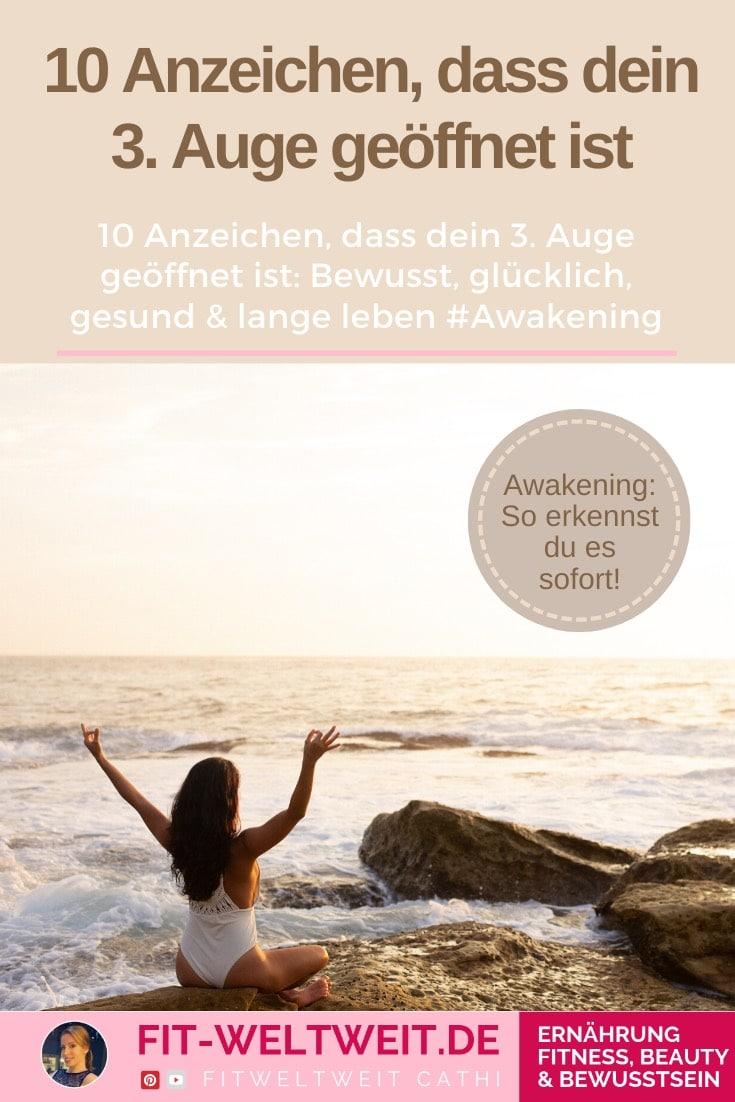 Lebst du bewusst? 10 Anzeichen, dass dein 3. Auge geöffnet ist #Awakening Jeder kann es lernen, sein drittes Auge zu öffnen und damit mehr zu fühlen und weniger zu denken. Gefühle statt Rationalität. Gesünder, länger und glücklicher leben.