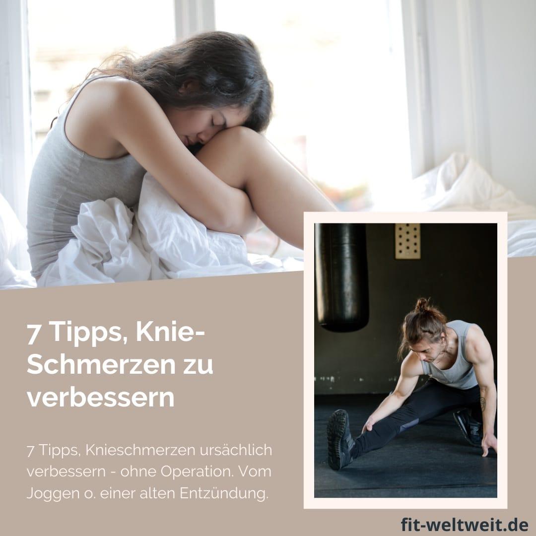 7 Tipps, Knieschmerzen nach dem Joggen ursächlich verbessern ohne Operation