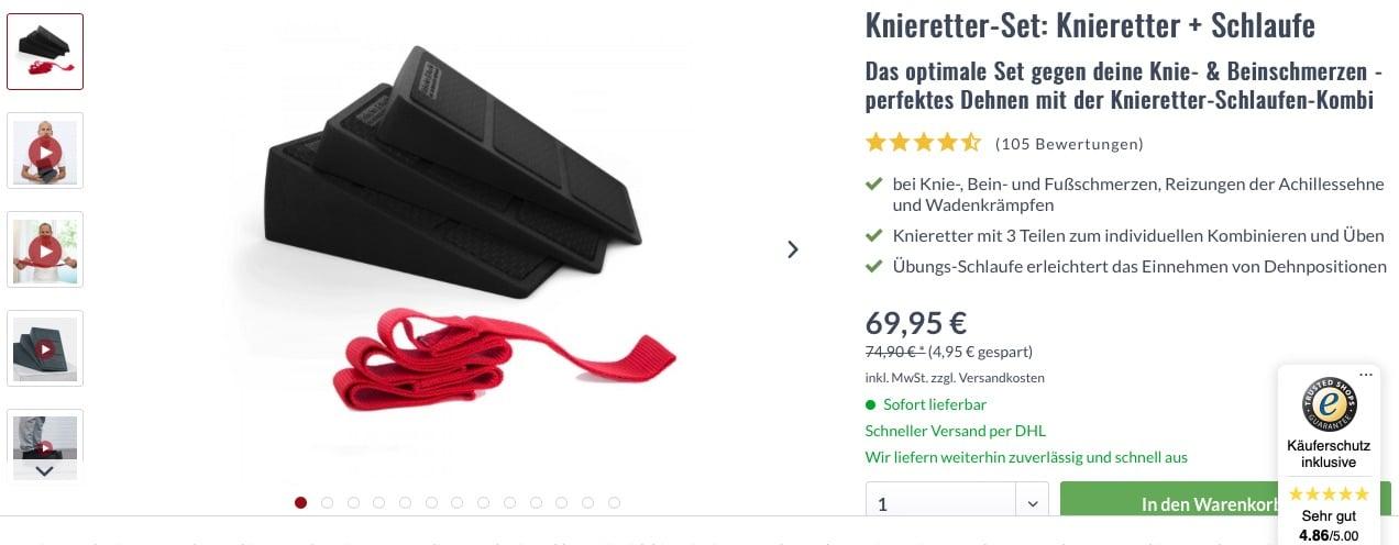Liebscher Bracht Knieretter Set Übungsschlaufe Schlaufe Angebot