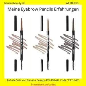 Augenbrauen Stift Eyebrow Pencils Banana Beauty Erfahrungen light medium dark