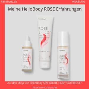 HelloBody Rose Linie Erfahrungen Hello Body Produkte Geischt