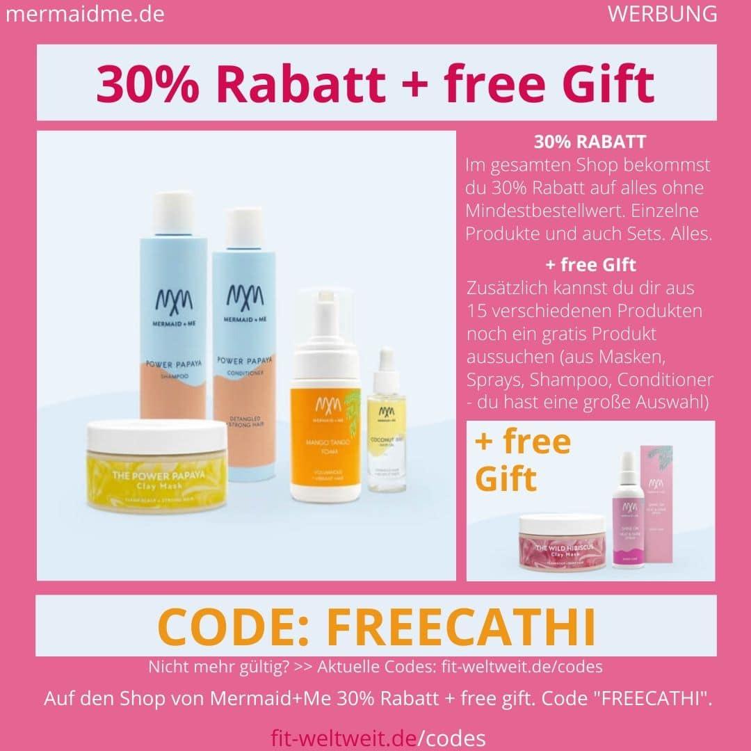 Mermaid+Me Code 30% - 40% Rabatt + free Gift Gutscheincode