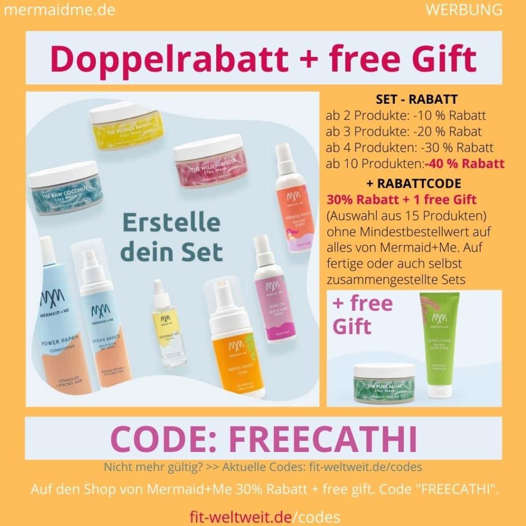 Mermaid+Me Code 60% Doppelrabatt 40% + 30% Rabatt + free Gift